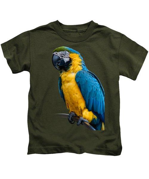Blue Yellow Macaw No.1 Kids T-Shirt