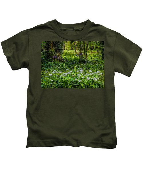 Bluebells And Wild Garlic At Coole Park Kids T-Shirt