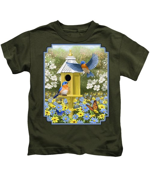 Bluebird Garden Home Kids T-Shirt