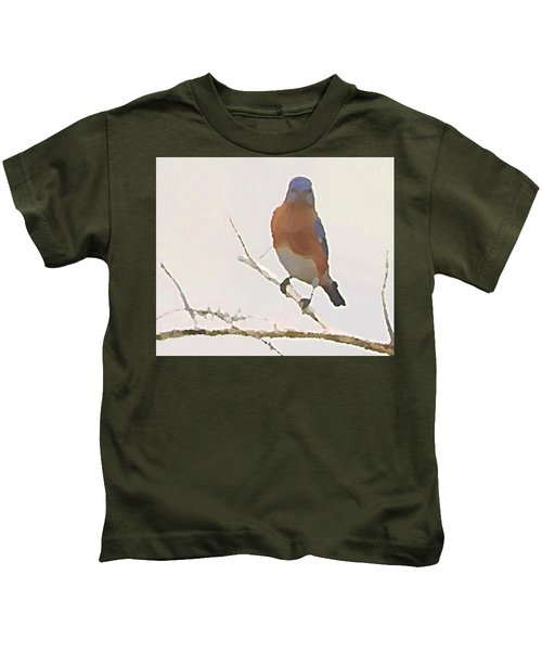 Bluebird Stare  Kids T-Shirt