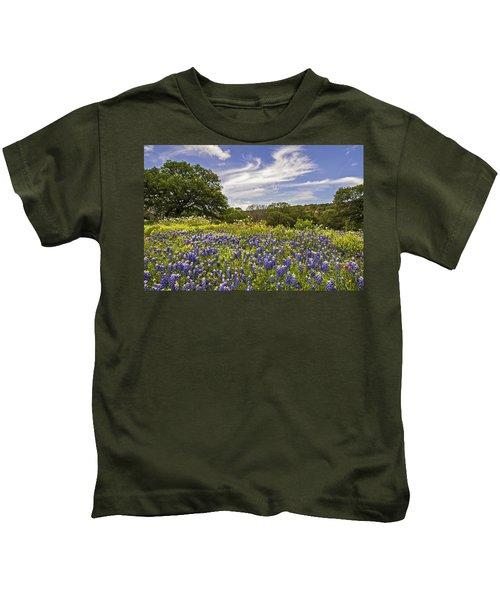 Bluebonnet Spring Kids T-Shirt