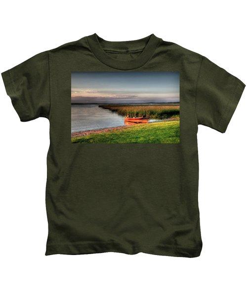 Boat On A Minnesota Lake Kids T-Shirt