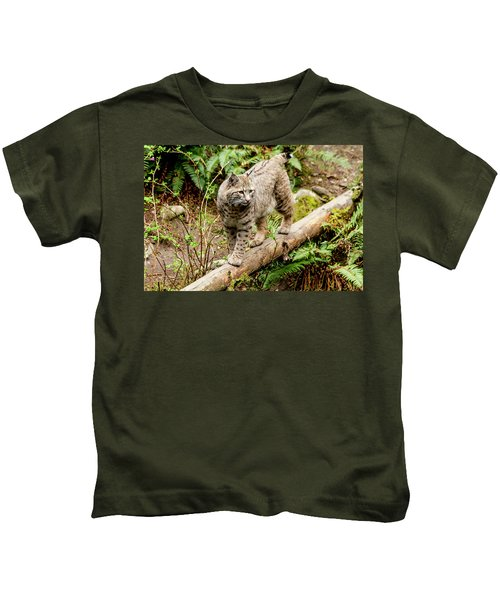 Bobcat In Forest Kids T-Shirt