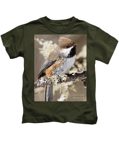 Boreal Chickadee Kids T-Shirt