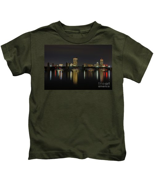 Boston Skyscrappers Behind Bridge Kids T-Shirt