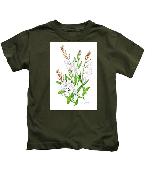 Botanical Illustration Floral Painting Kids T-Shirt