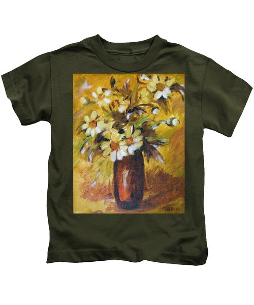 Bouquet Flowers Of Gold Kids T-Shirt