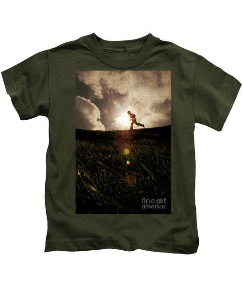 Boy Running Kids T-Shirt