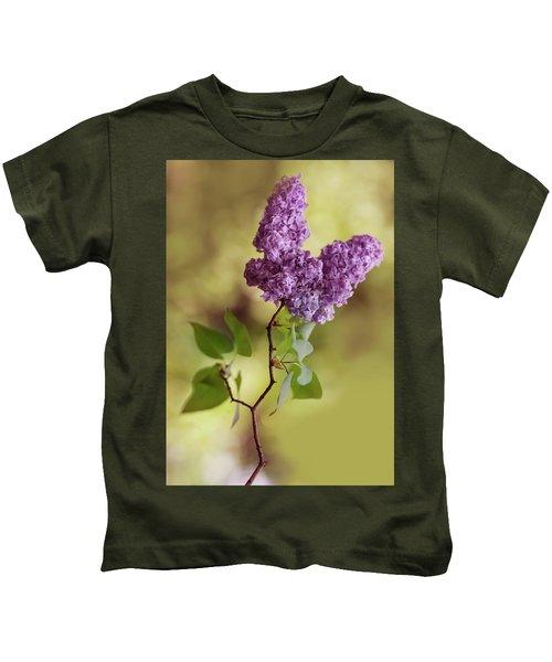 Branch Of Fresh Violet Lilac Kids T-Shirt