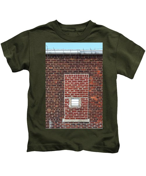 Brick And Barbed Wire Kids T-Shirt