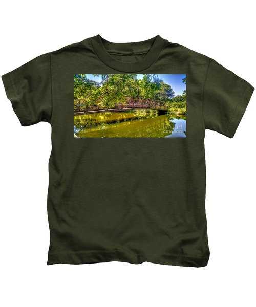 Bridge Over Delaware Canal At Colonial Park Kids T-Shirt