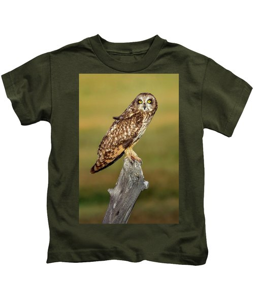 Bright-eyed Owl Kids T-Shirt
