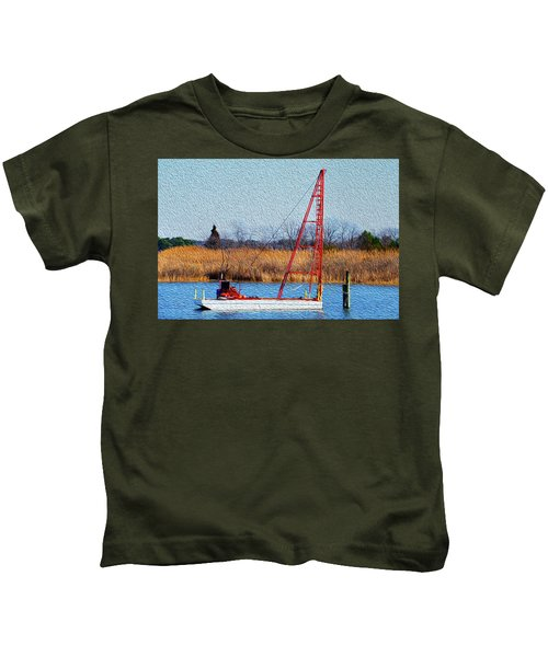 Bright Paintery Barge Kids T-Shirt