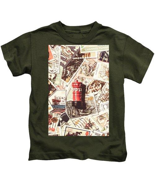 British Post Box Kids T-Shirt