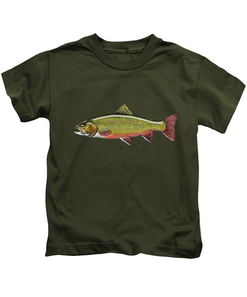 Brook Trout Kids T-Shirt by Serge Averbukh