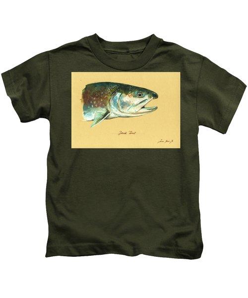 Brook Trout Watercolor Kids T-Shirt