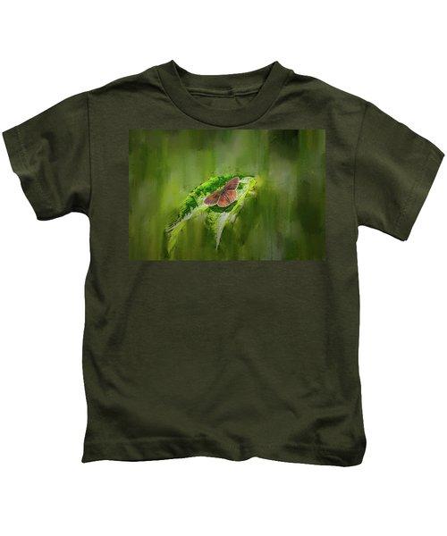 Brown Butterfly #h6 Kids T-Shirt