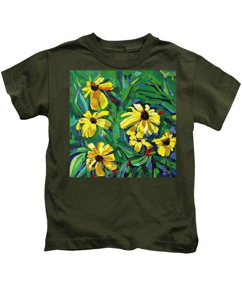 Brown-eyed Susans Kids T-Shirt