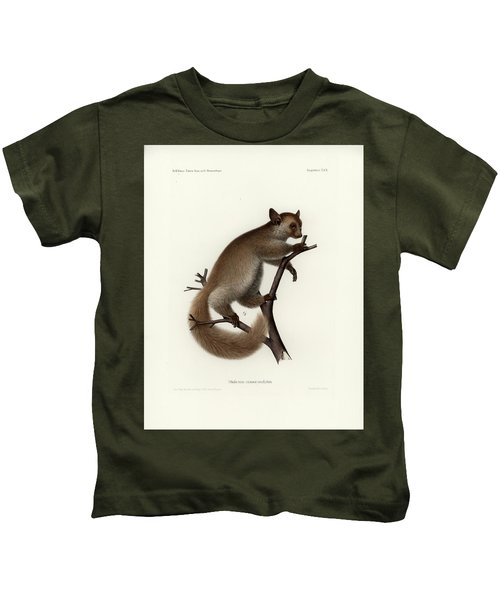 Brown Greater Galago Or Thick-tailed Bushbaby Kids T-Shirt
