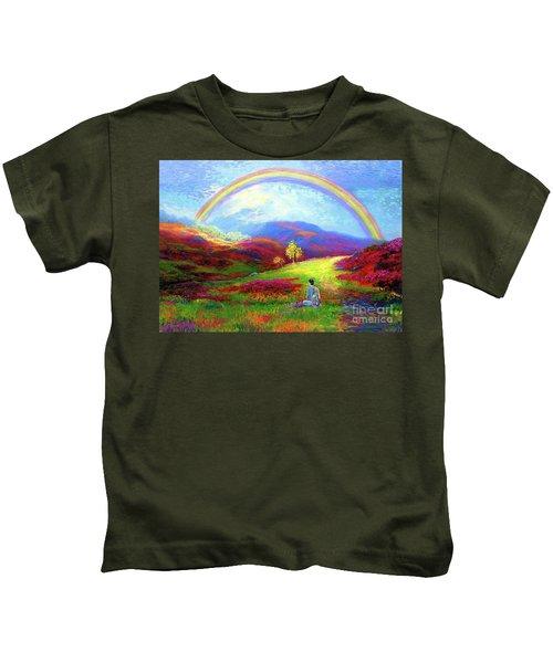 Buddha Chakra Rainbow Meditation Kids T-Shirt
