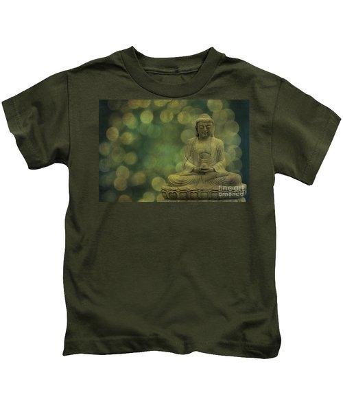 Buddha Light Gold Kids T-Shirt