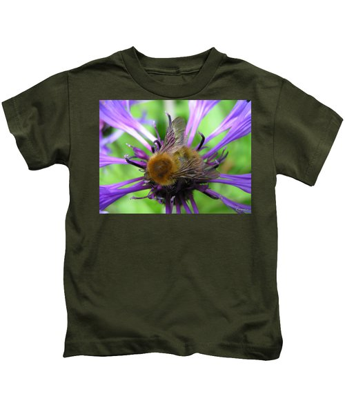 Bumblebee In Blue Kids T-Shirt