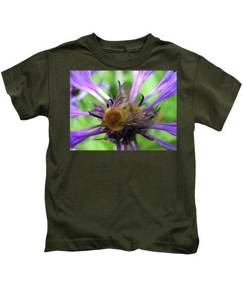 Bumblebee In Blue Kids T-Shirt