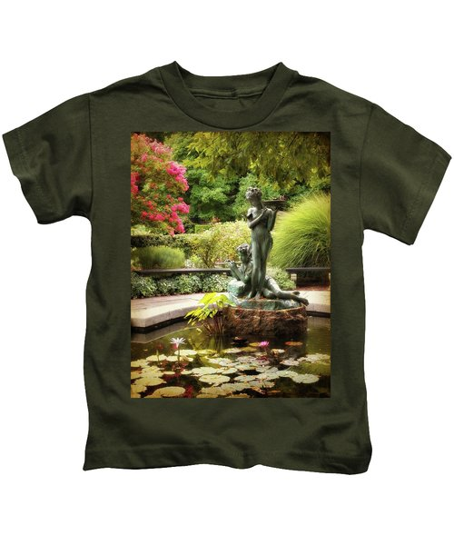 Burnett Fountain Garden Kids T-Shirt