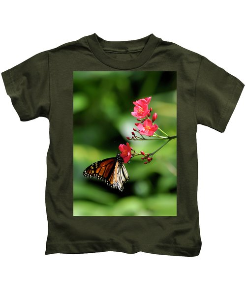 Butterfly And Blossom Kids T-Shirt