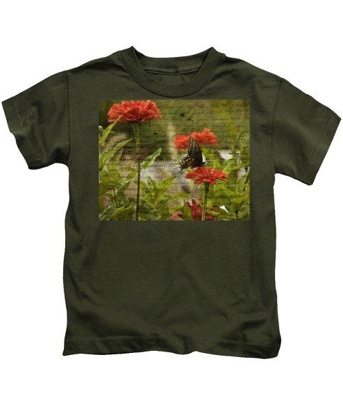 Butterfly Notes Kids T-Shirt