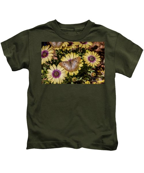Butterfly On Blossoms Kids T-Shirt