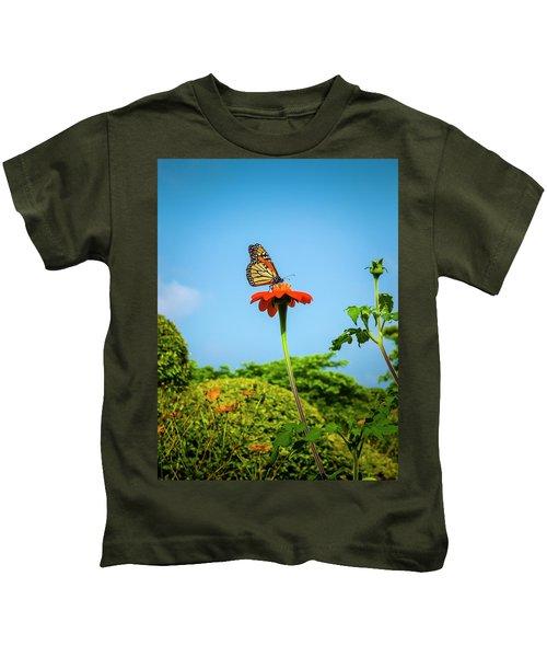 Butterfly Perch Kids T-Shirt
