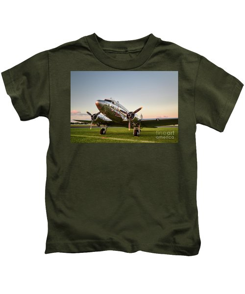 C-47 At Dusk Kids T-Shirt