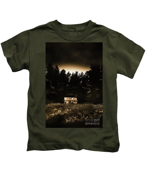 Cabin In The Woodlands  Kids T-Shirt