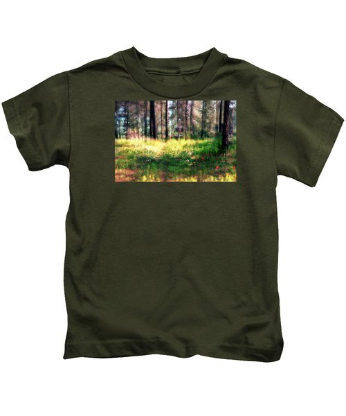 Cabin In The Woods In Menashe Forest Kids T-Shirt