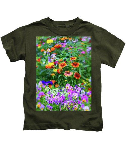 Summer Symphony Of Color Kids T-Shirt