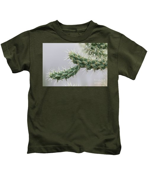Cactus Branch With Wet White Long Needles Kids T-Shirt