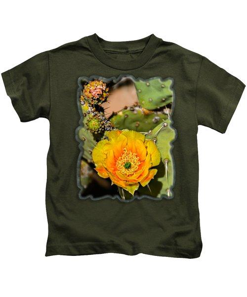 Cactus Flower Op46 Kids T-Shirt