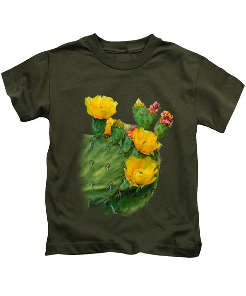 Cactus Flowers V34 Kids T-Shirt