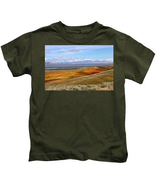 California Poppy Reserve Kids T-Shirt