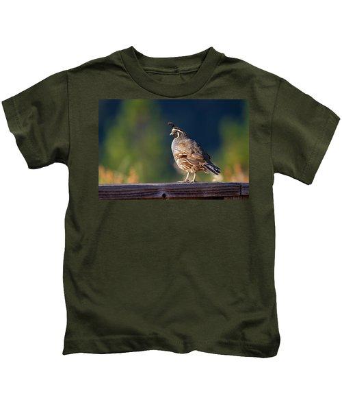 California Quail Kids T-Shirt