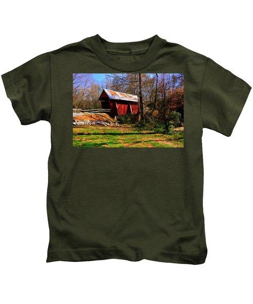 Campbell's Covered Bridge Est. 1909 Kids T-Shirt
