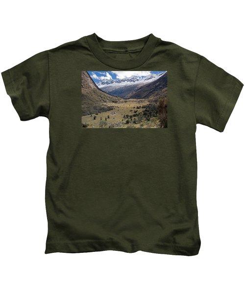 Camping In Huaripampa Valley Kids T-Shirt
