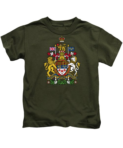 Canada Coat Of Arms Kids T-Shirt by Movie Poster Prints