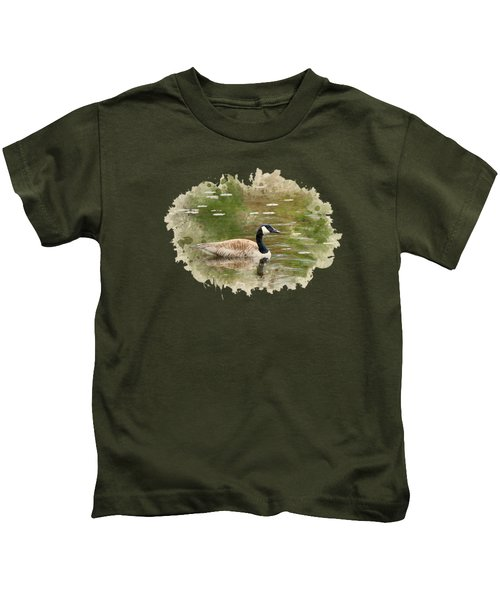 Canada Goose Watercolor Art Kids T-Shirt