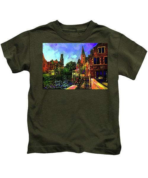 Canal In Bruges Kids T-Shirt
