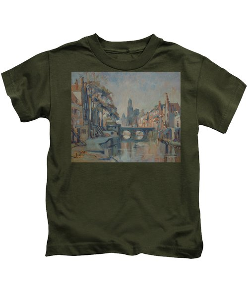 Canal In Utrecht Kids T-Shirt