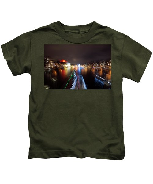 Canal Streaking Abstract Kids T-Shirt