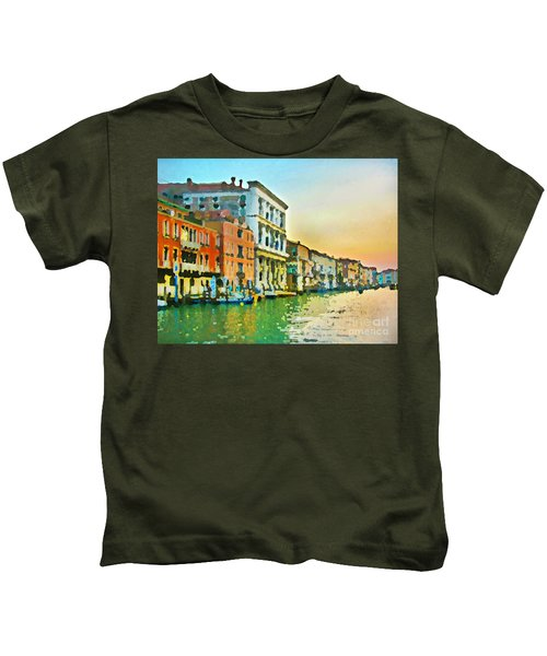 Canal Sunset - Venice Kids T-Shirt