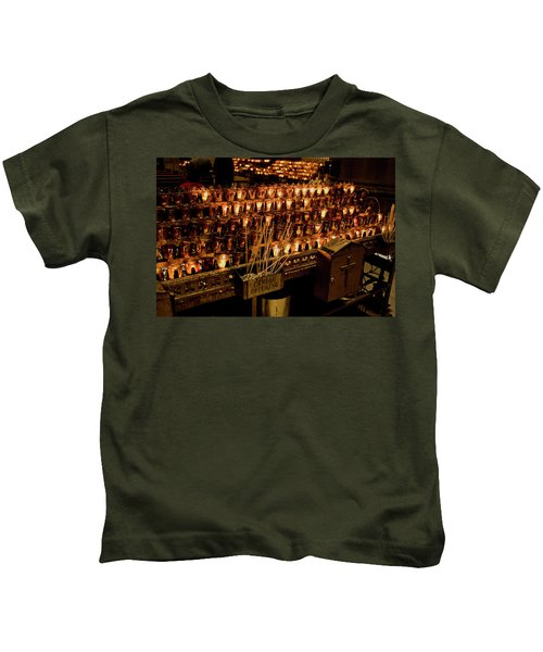 Candle Offerings St. Patrick Cathedral Kids T-Shirt